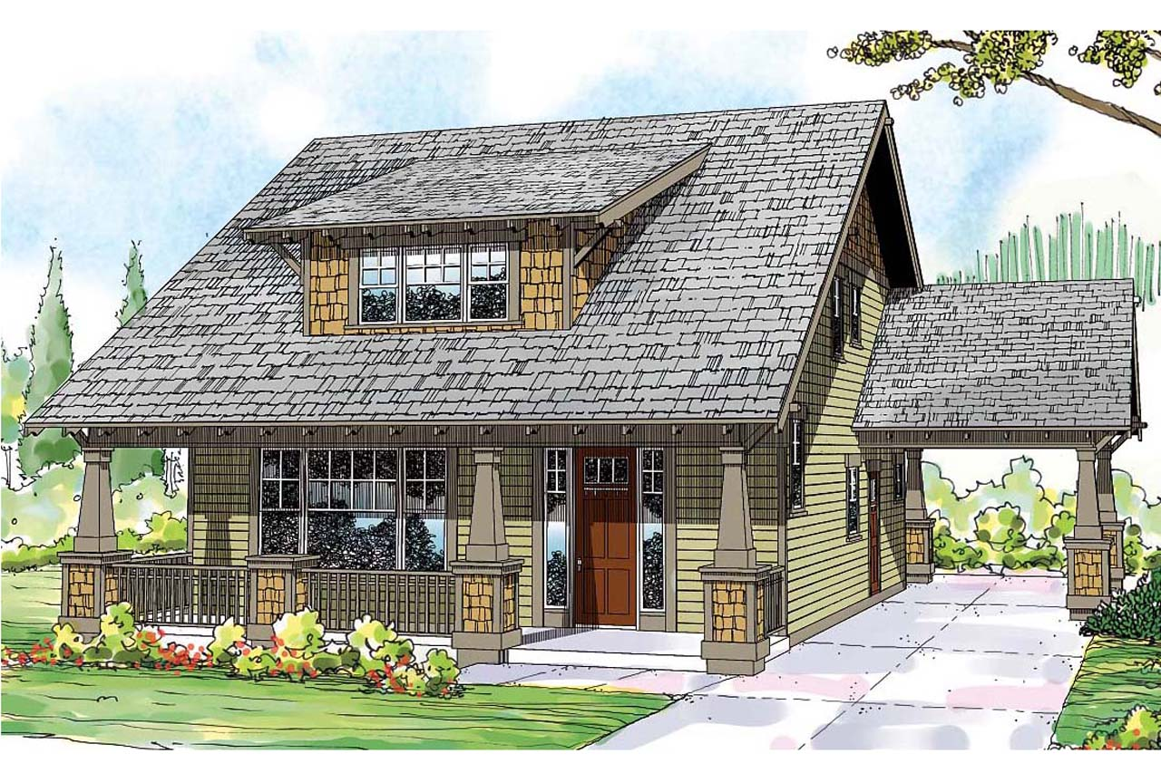 Bungalow house plans blue river 30 789 associated designs for Garage style homes
