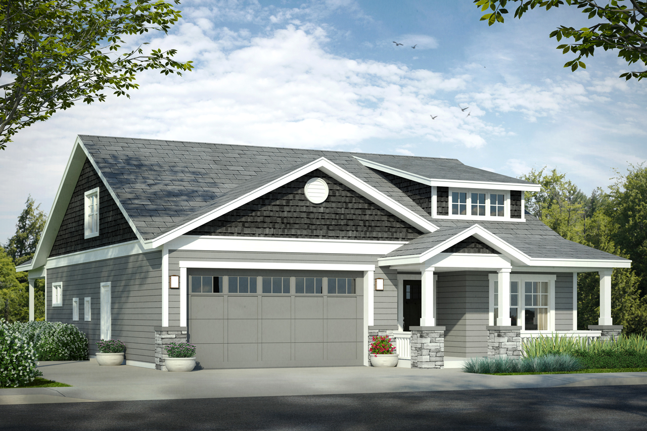 Bungalow House Plan, Home Plan, Nanucket 31-027