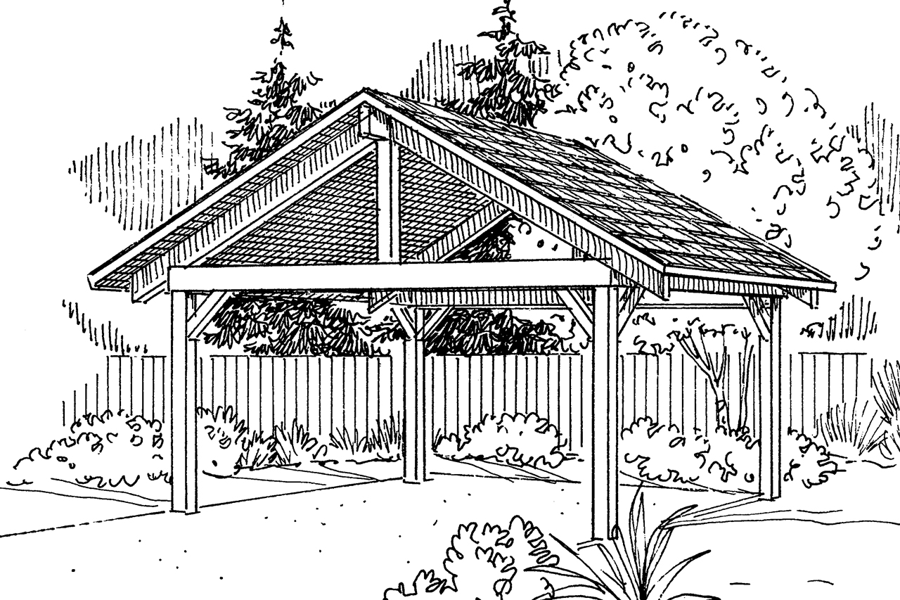 Traditional house plans carport 20 044 associated designs for House plans with carport
