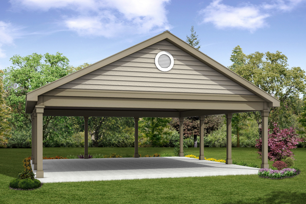 classic house plans - carport 20-055