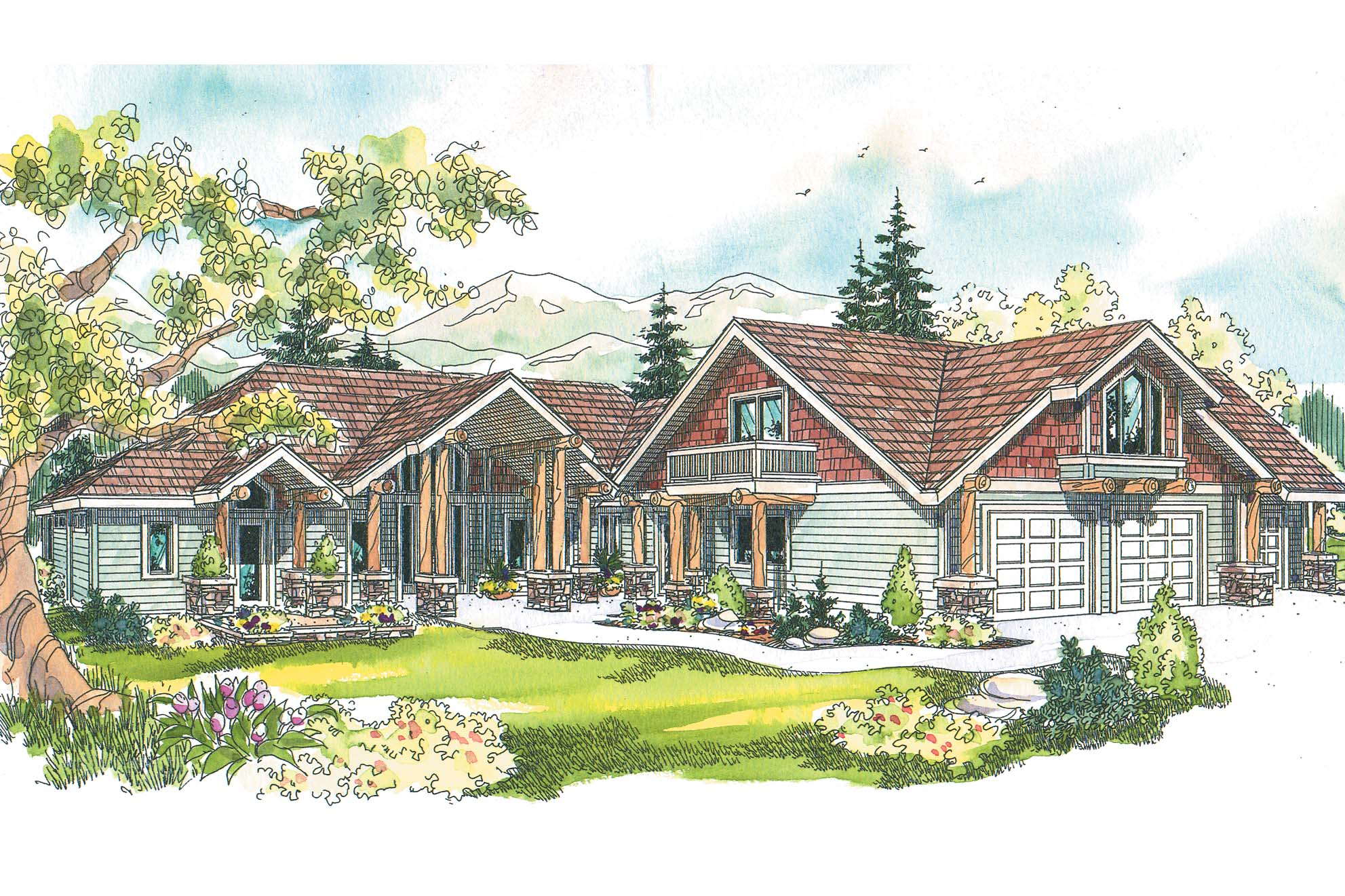 Chalet house plans missoula 30 595 associated designs for Mansion plan