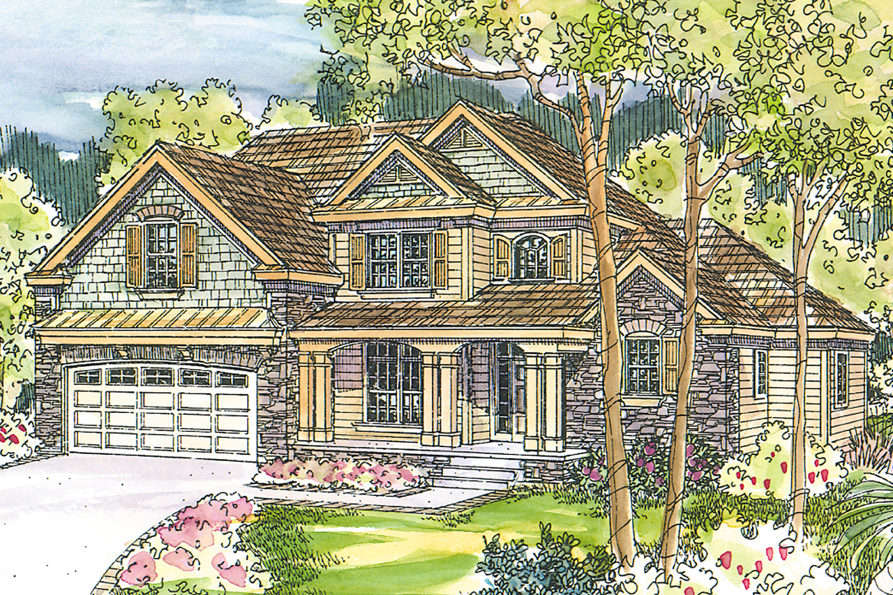 Chateau House Plan, Home Plan, Fitzgerald 30-492