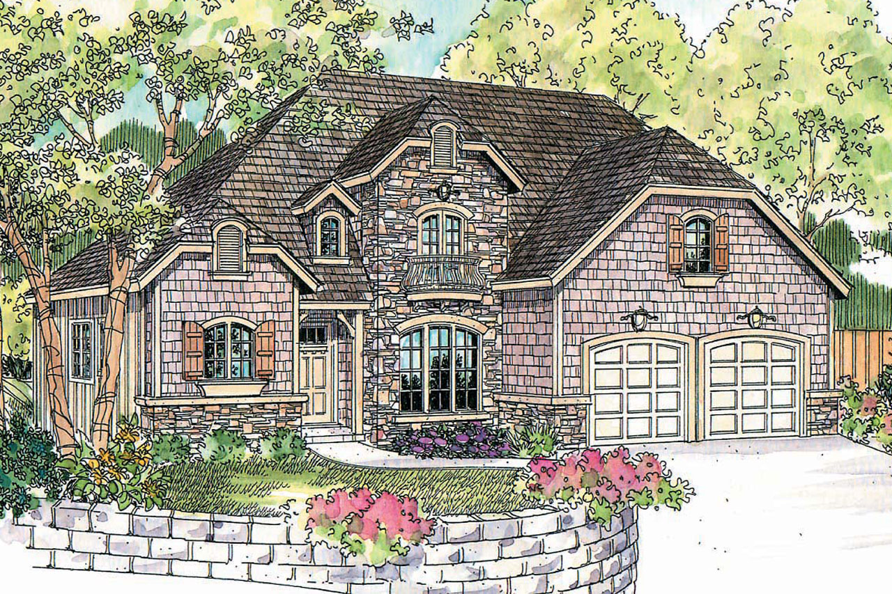Chateau House Plan - Heartison 10-540 - Front Elevation