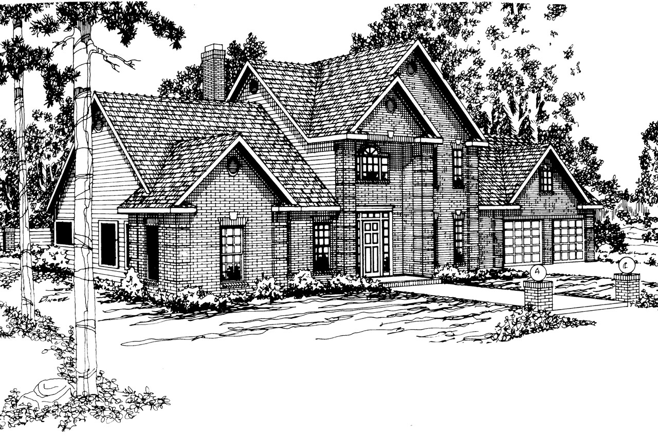 Classic house plans greenville 30 028 associated designs for Classic house floor plans