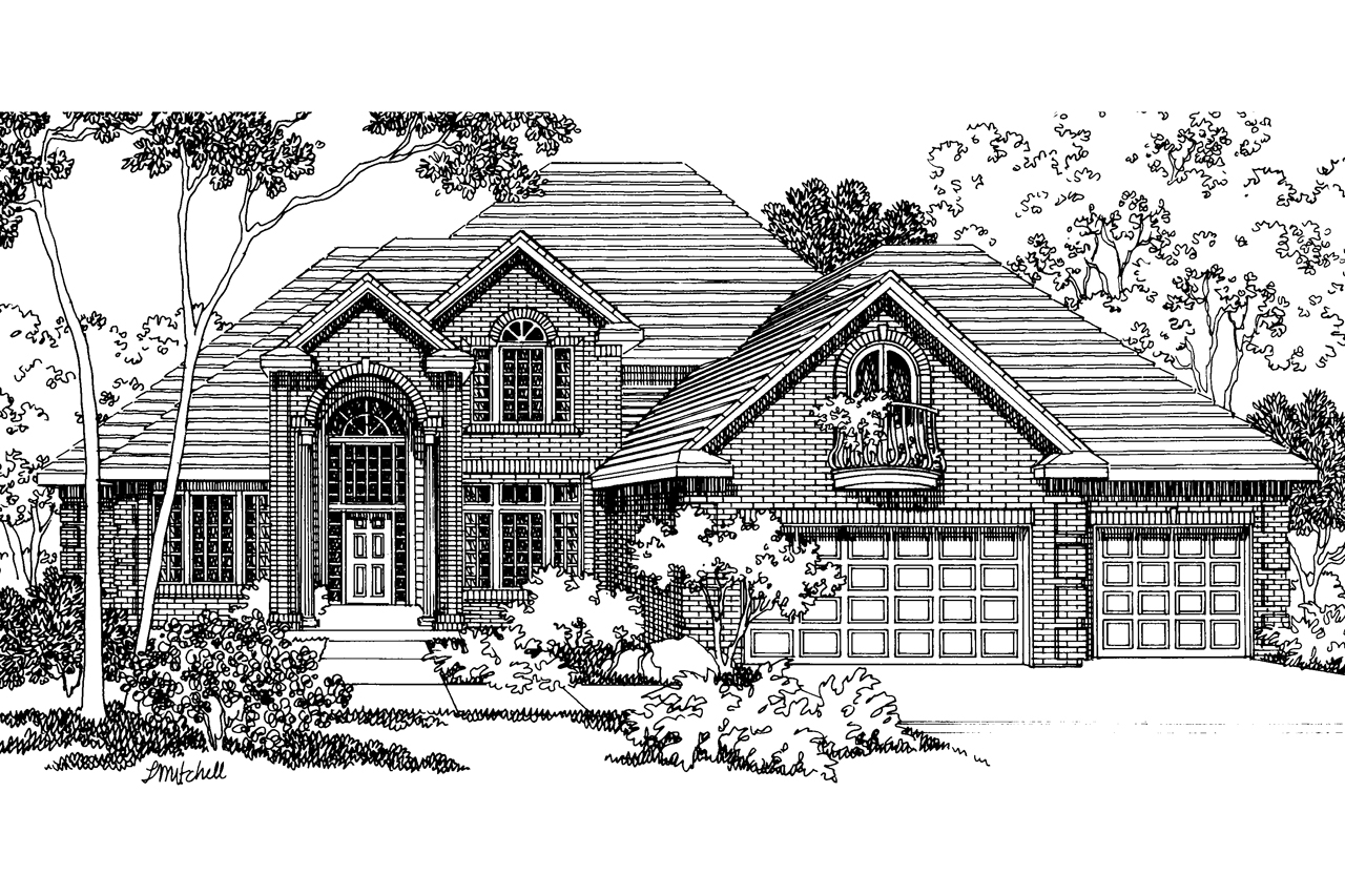 Classic House Plan - Merritt 30-145 - Front Elevation