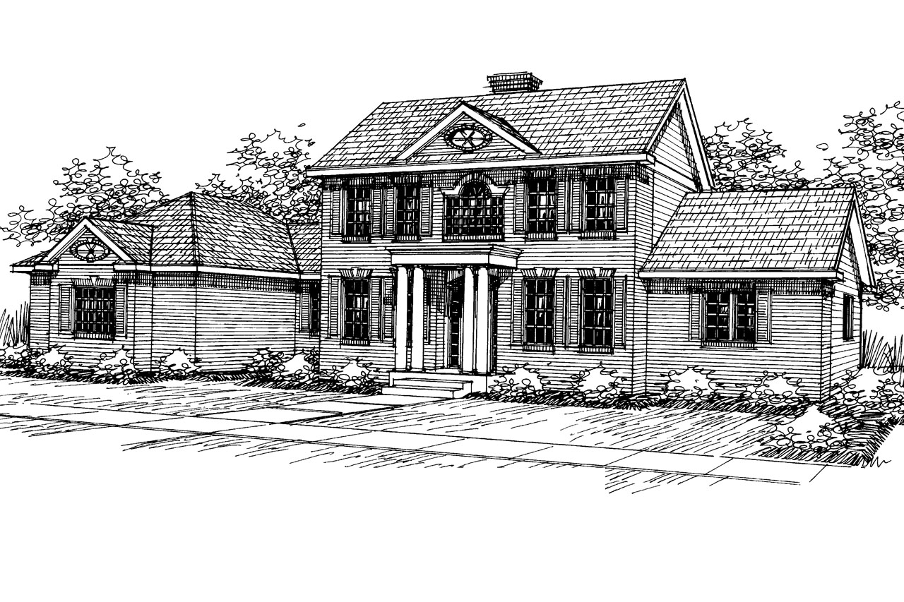 Wonderful colonial saltbox house plans images plan 3d for Colonial reproduction house plans