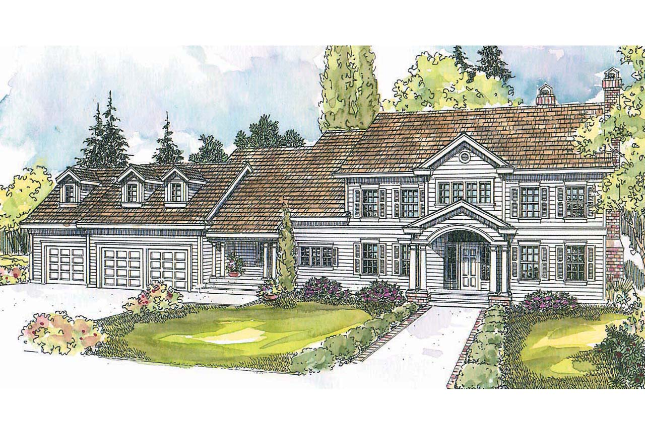 Colonial house plans princeton 30 497 associated designs for Colonial home designs