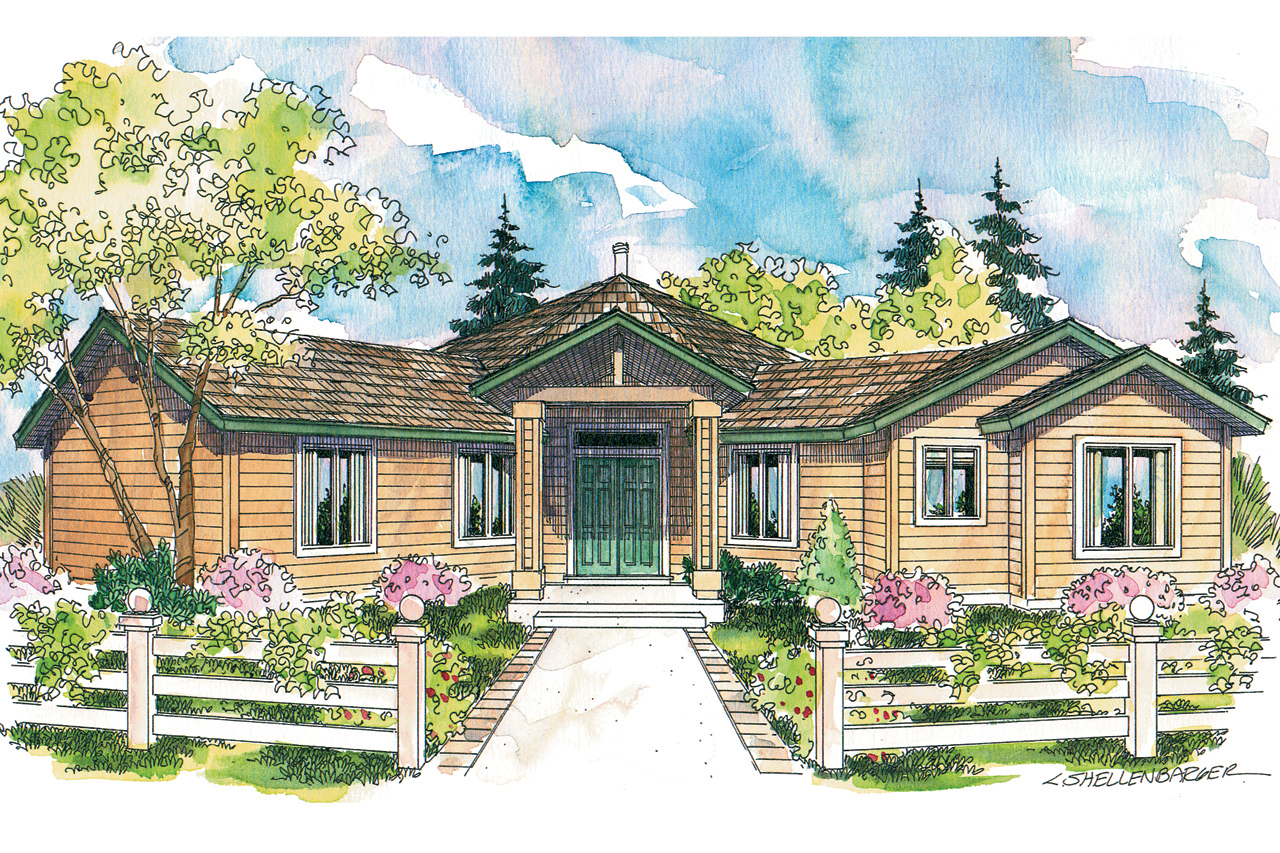 Contemporary House Plan, Home Plan, Hexagonal Home Plan, Forsythia 10-426