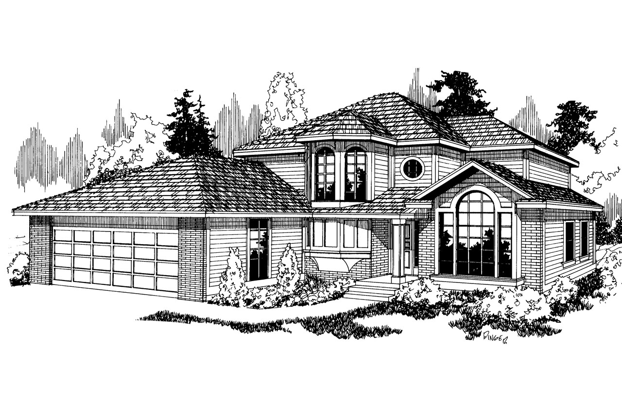 Contemporary House Plan - Lindsey 10-022 - Front Elevation