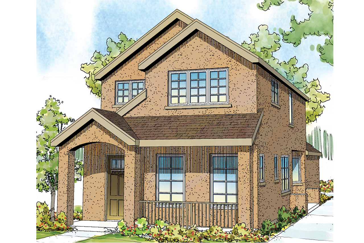 The montrose is bright and spacous and perfect for a for Modern home plans for narrow lots