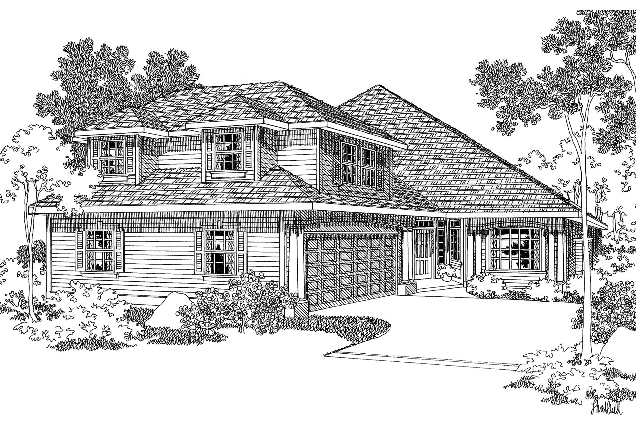 Contemporary House Plan - Newark 30-182 - Front Elevation