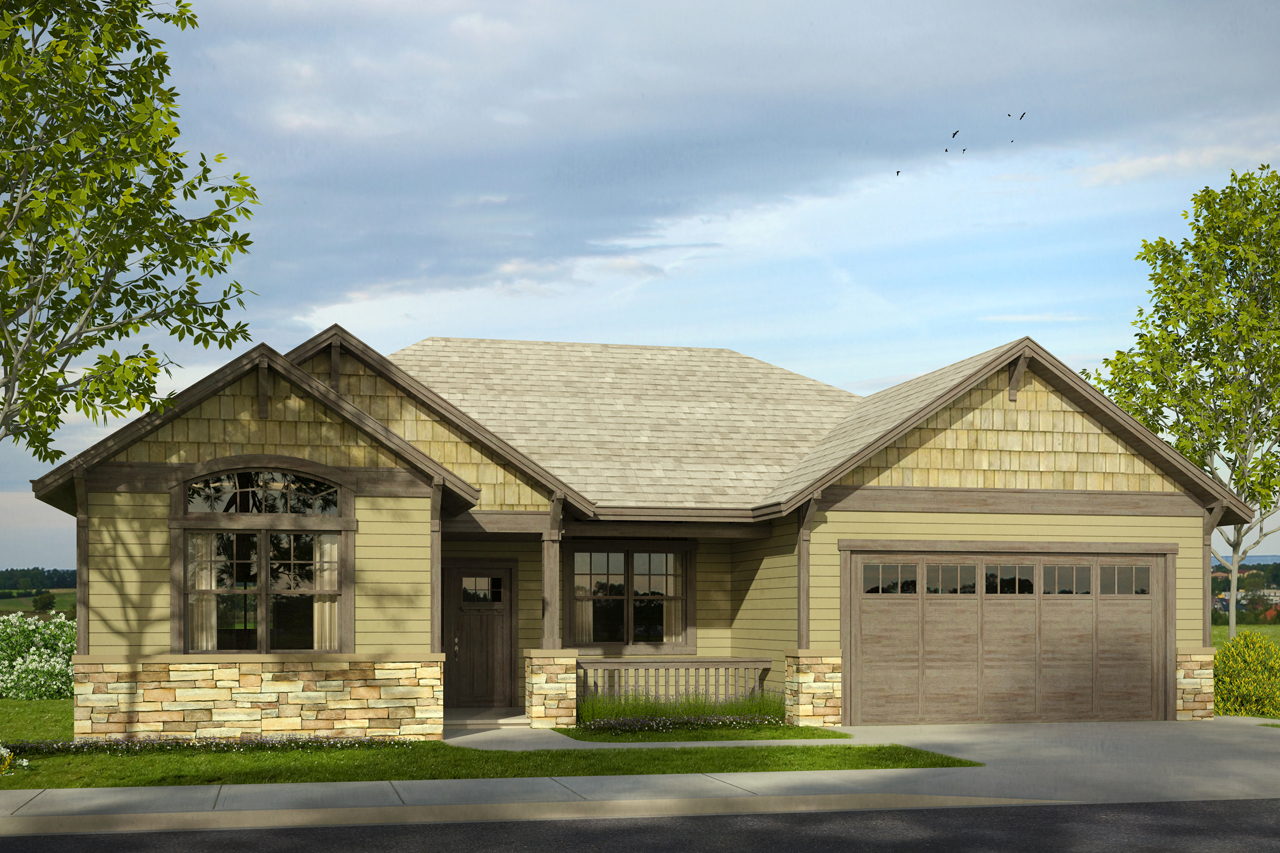 New cottage house plan has welcoming front porch for Bungalow house plans with front porch