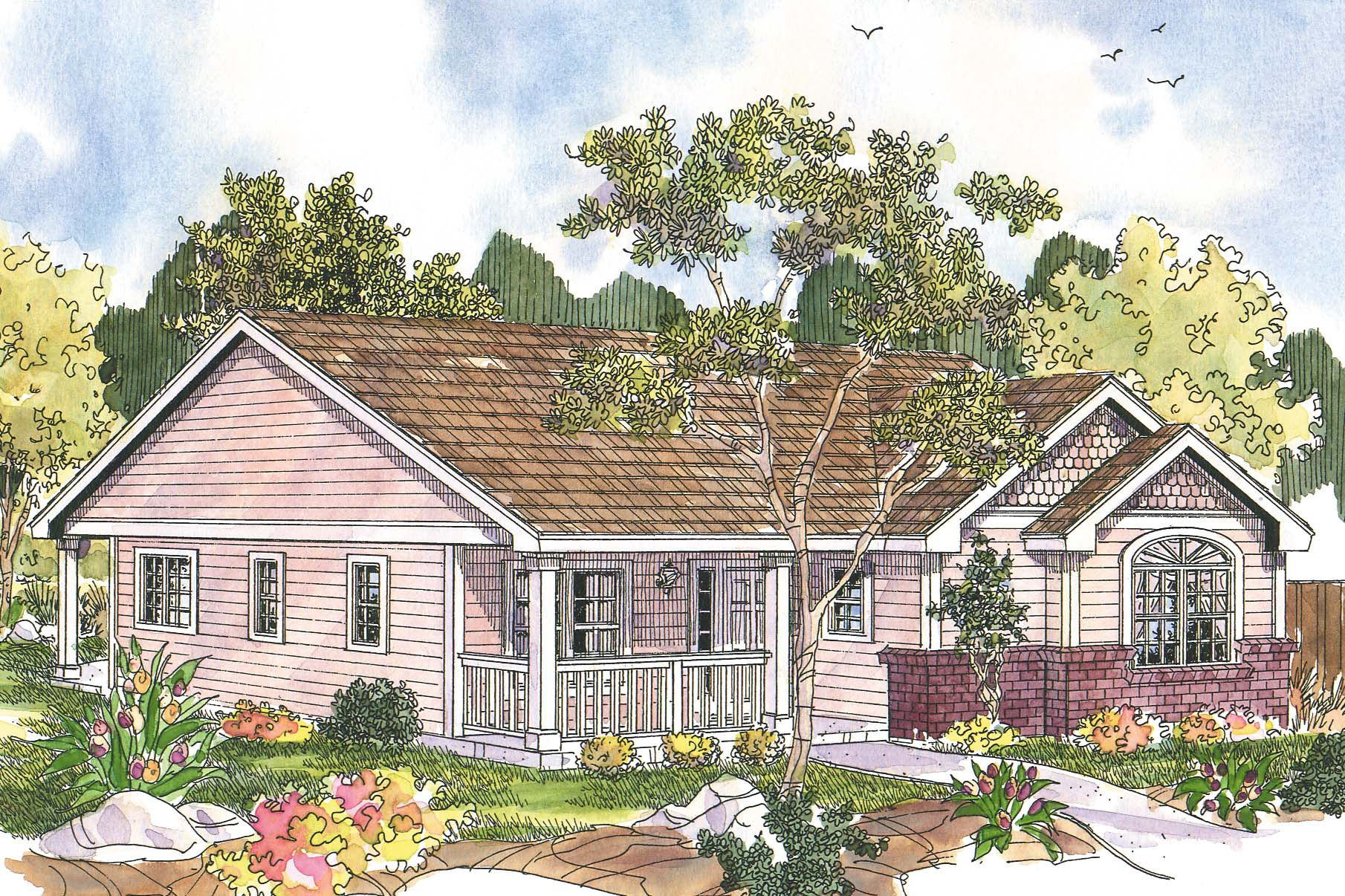 Cottage house plans callaway 30 641 associated designs for Cottage ranch house plans