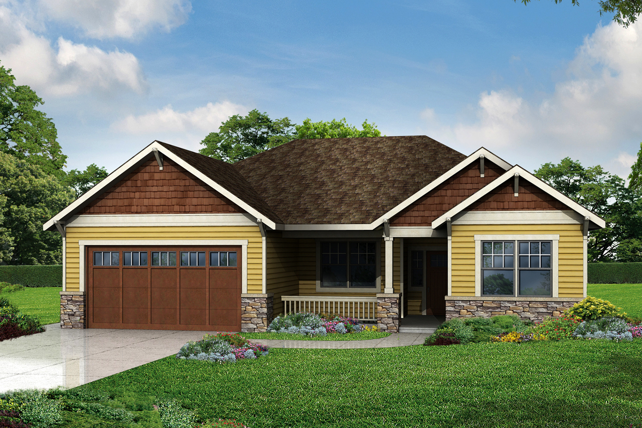 New cottage plan has craftsman style touches associated New home plans