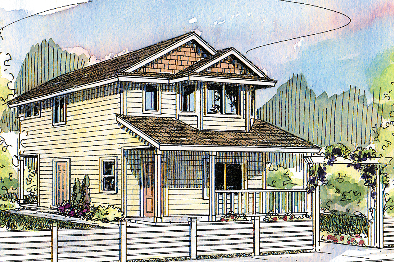 Cottage House Plan - Watkins 30-401 - Front Elevation
