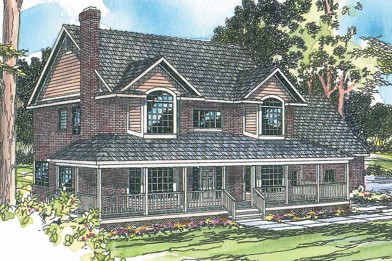 Country House Plans - Cimarron 10-208 - Associated Designs