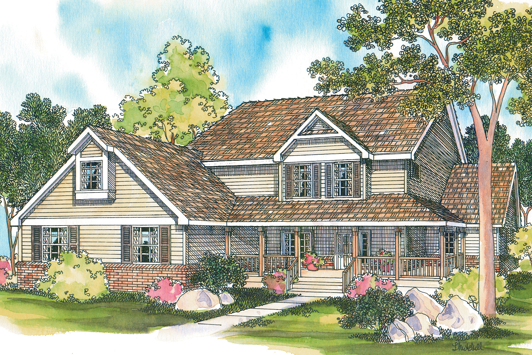 Featured House Plan of the Week, Country House Plan, Home Plan, Clayton 10-292