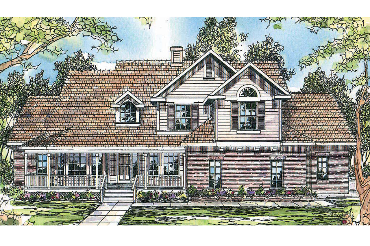 Country House Plan  Heartwood 10300  Front Elevation