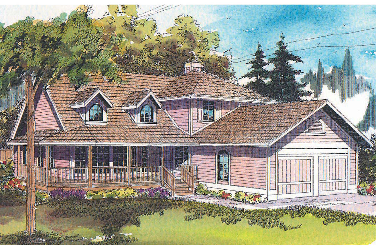 Country House Plan - Jasmine 10-001 - Front Elevation
