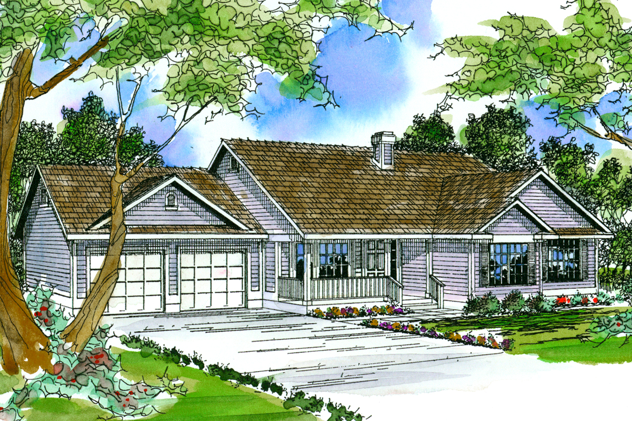 Charming Country House Plan   Marysville 30 112   Front Elevation ...