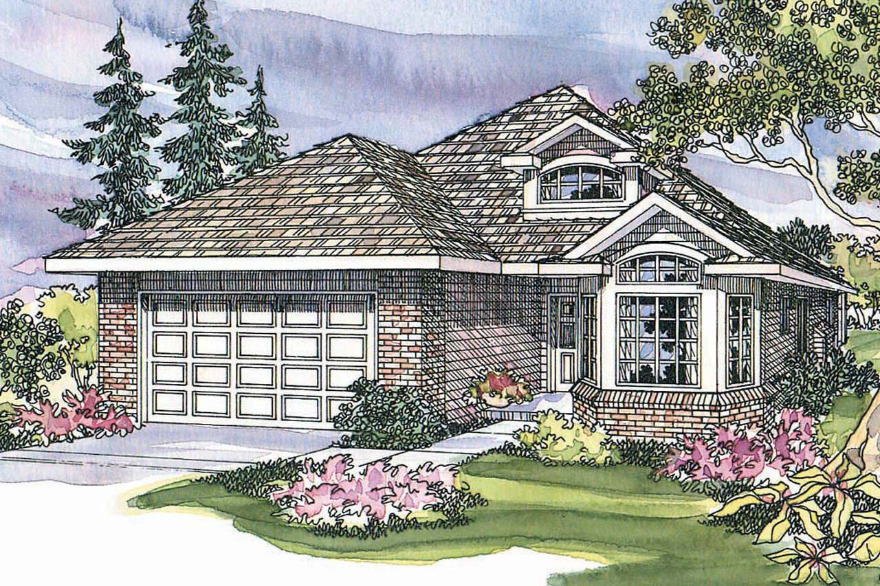Country House Plan - Springdale 30-155 - Front Elevation