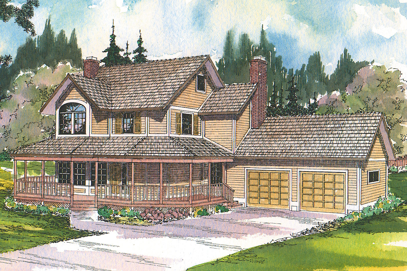 Country House Plan - Thompson 10-018 - Front Elevation