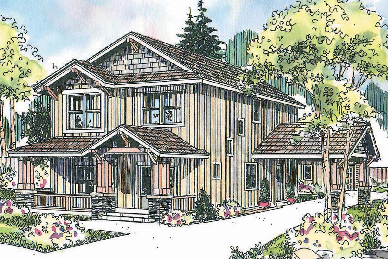 Craftsman house plans alderdale 30 573 associated designs for Best selling craftsman house plans