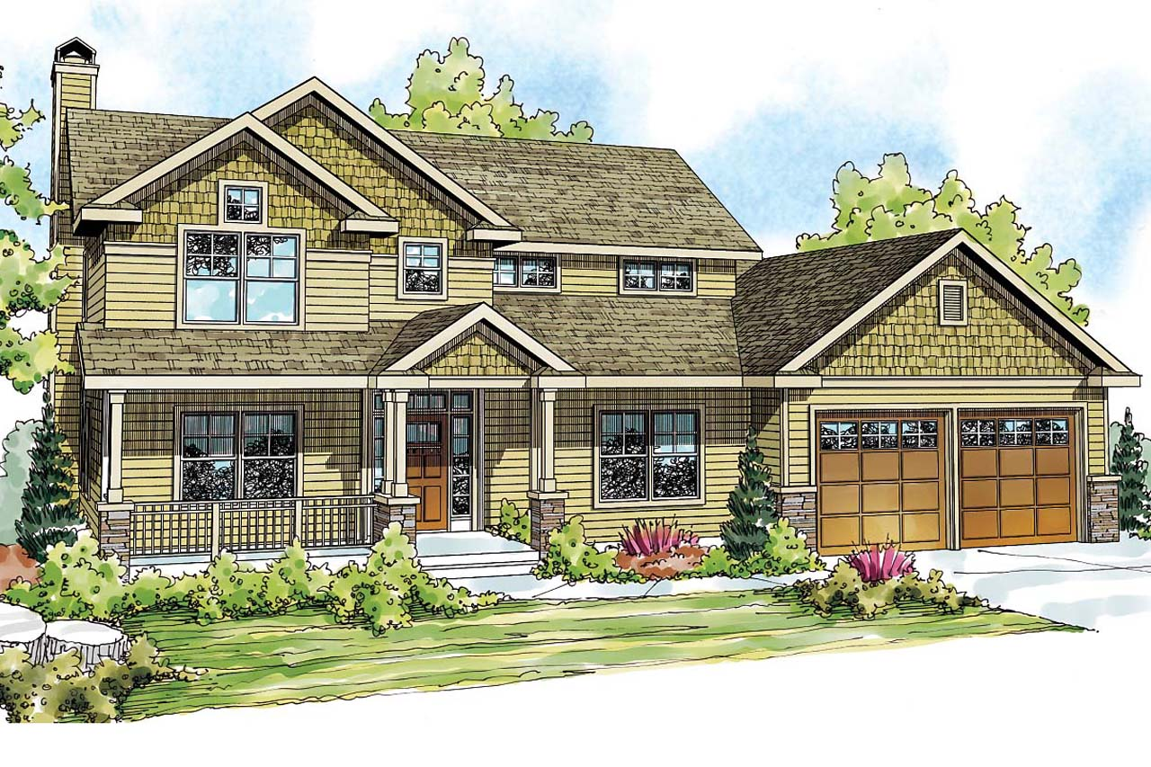 Craftsman house plans belknap 30 771 associated designs for Country craftsman house plans