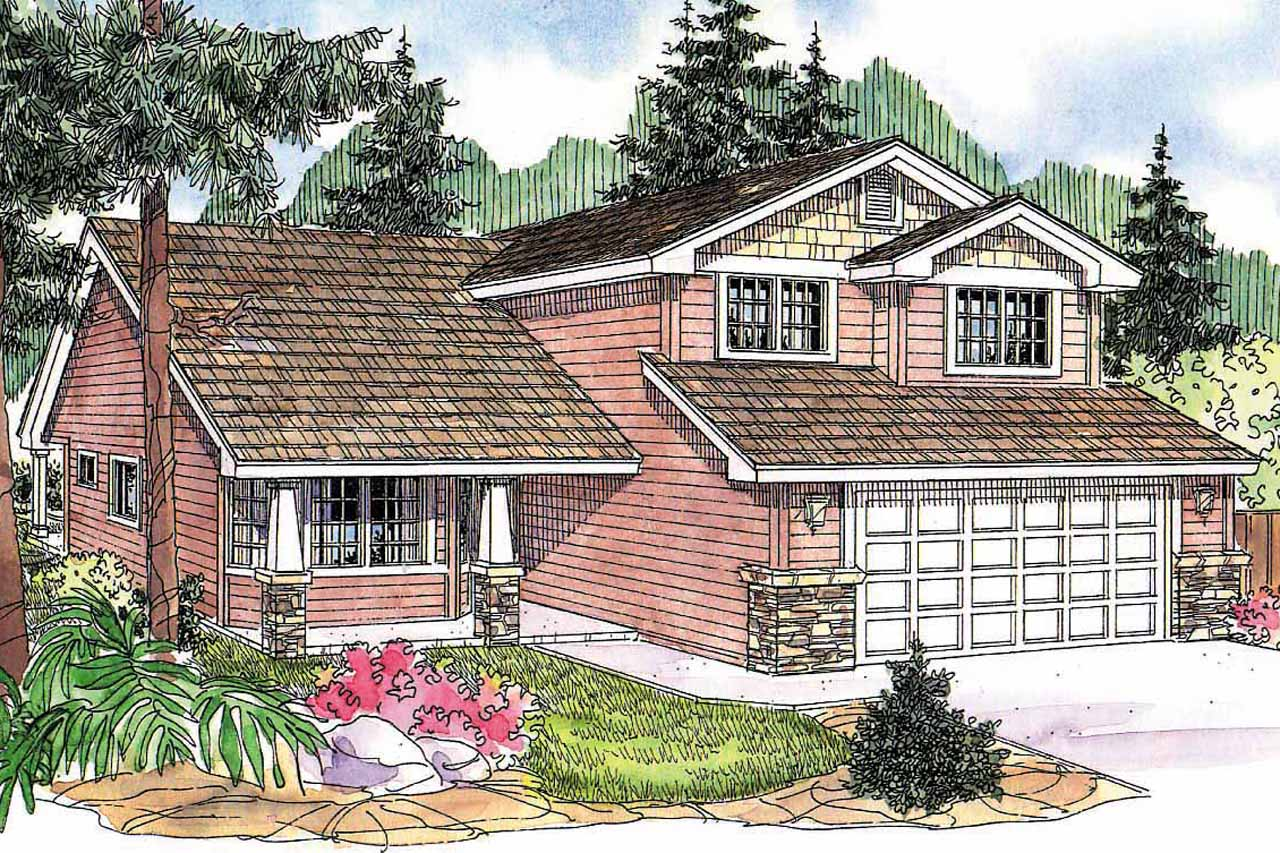 Craftsman House Plan - Bigsby 30-642 - Front Elevation