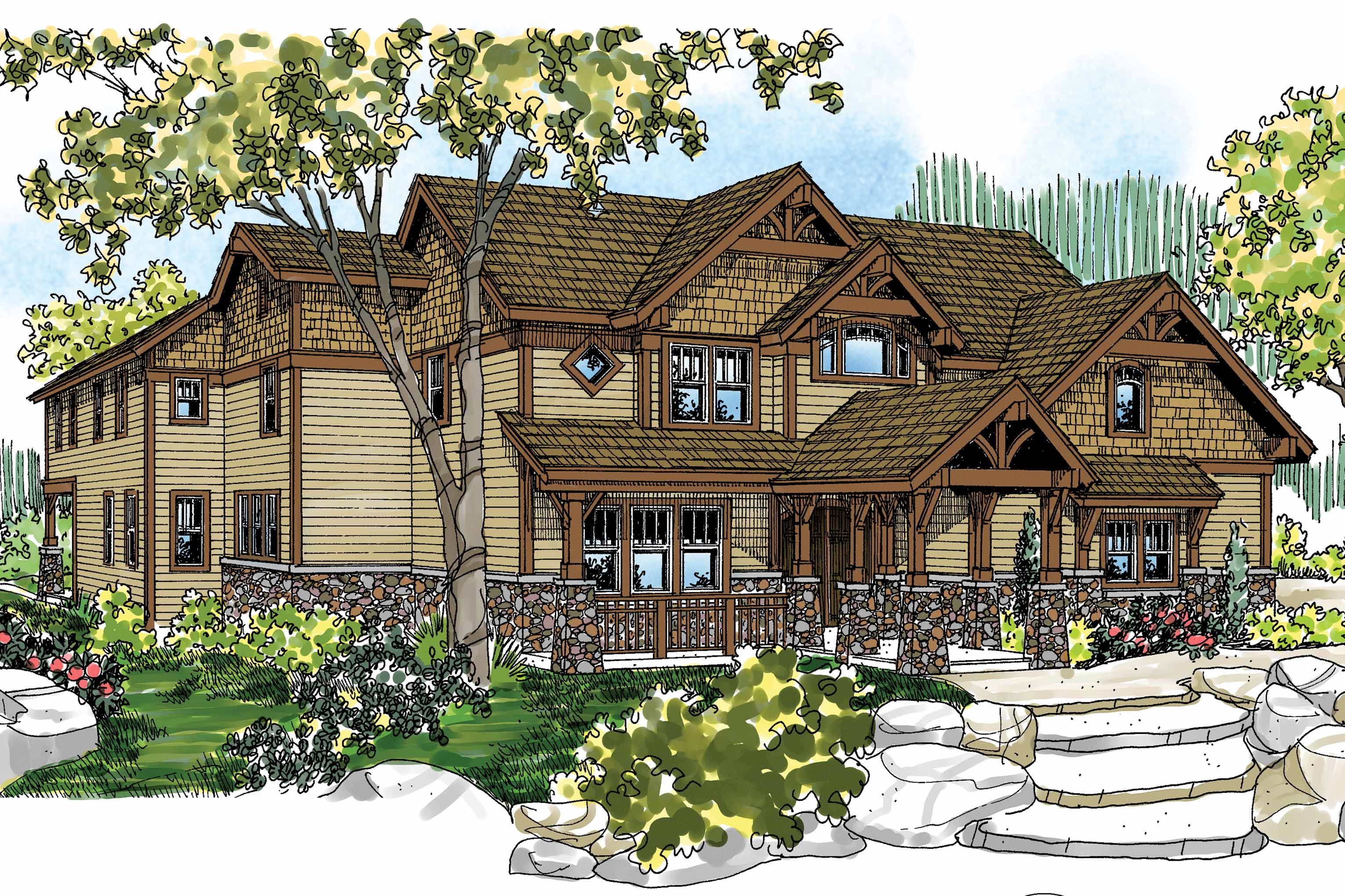 Featured House Plan of the Week, Craftsman Home Plan, Breckenridge 30-483