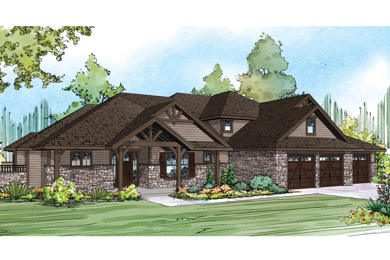 Craftsman house plans cedar creek 30 916 associated for Luxury craftsman style house plans