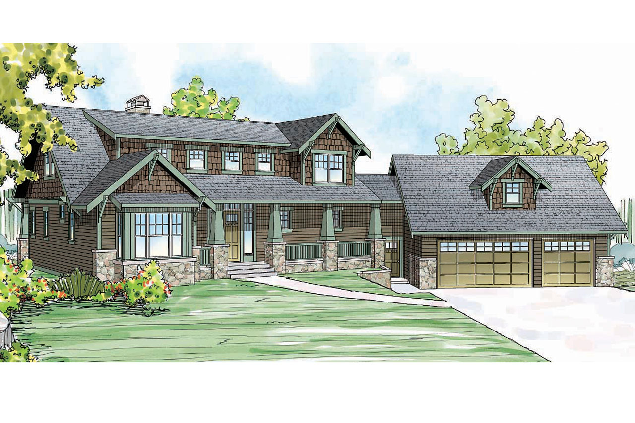 Craftsman House Plan - Cedarbrook 10-561 - Front Elevation