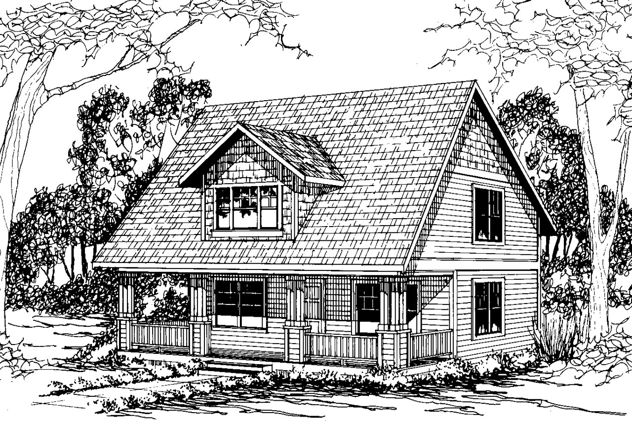 Craftsman House Plan - Dickenson 30-081 - Front Elevation