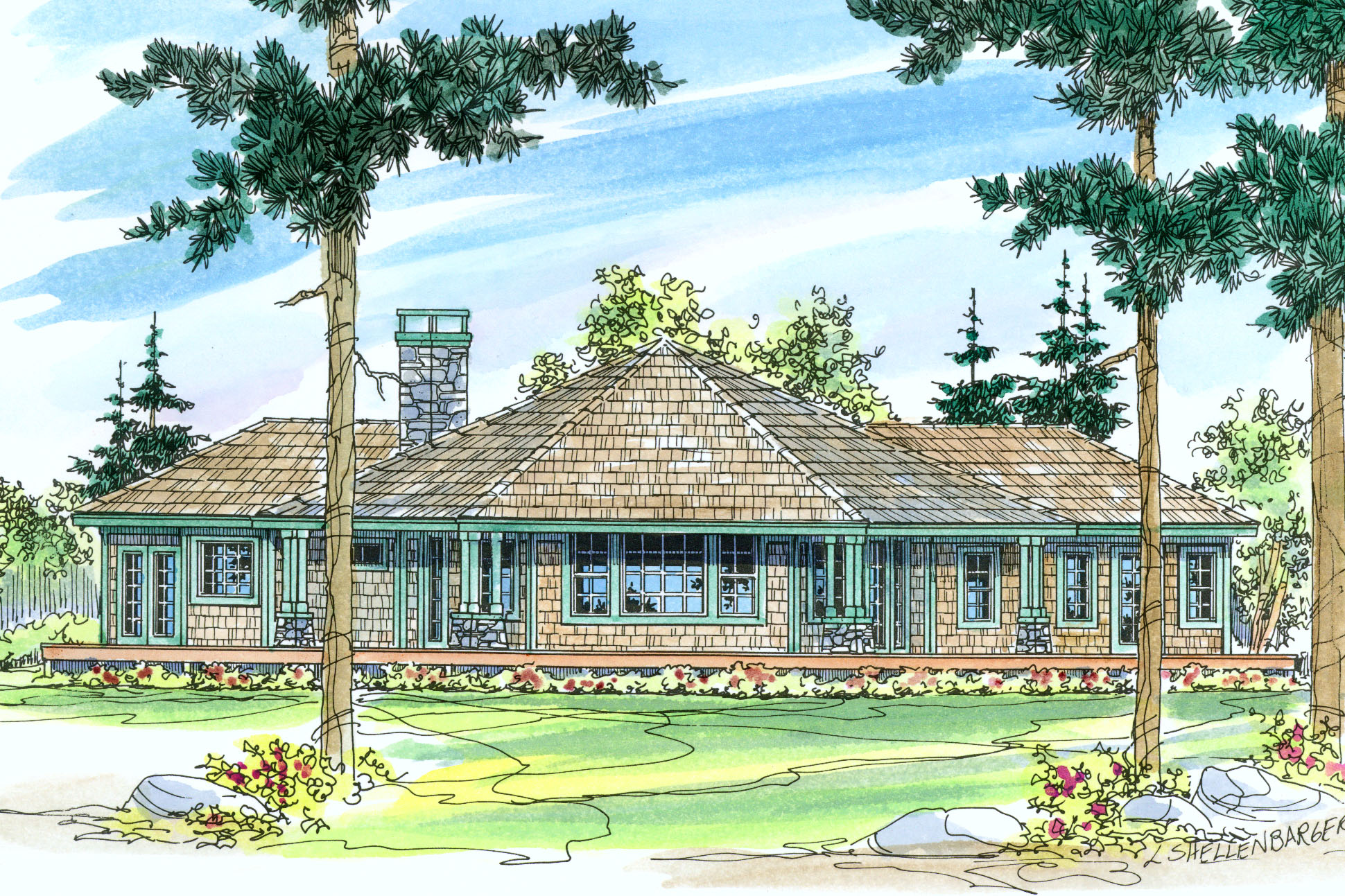 Craftsman house plans eddinger 30 328 associated designs for Hous plans