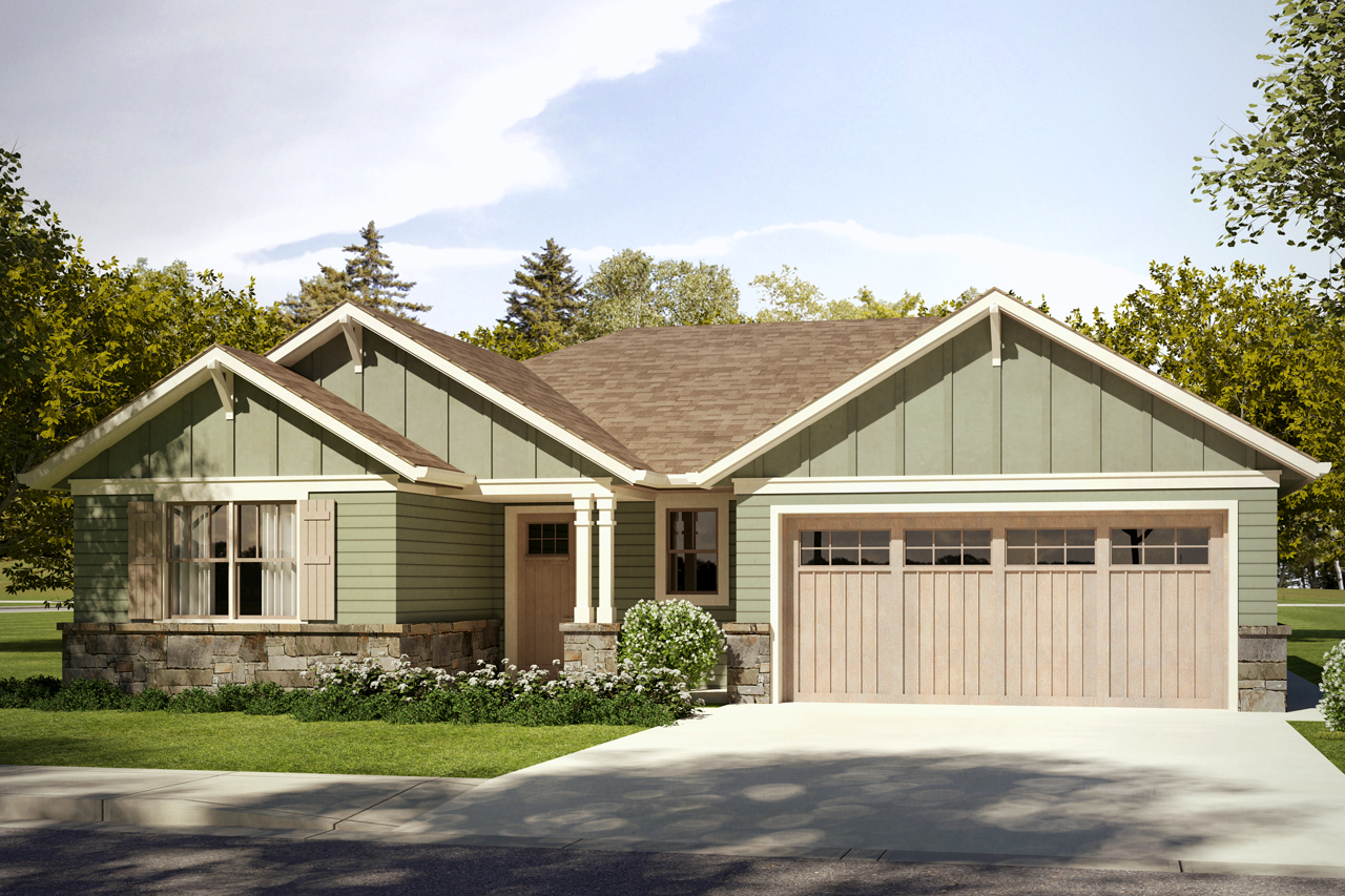 Craftsman House Plan, Home Plan, Gardenia 31-048