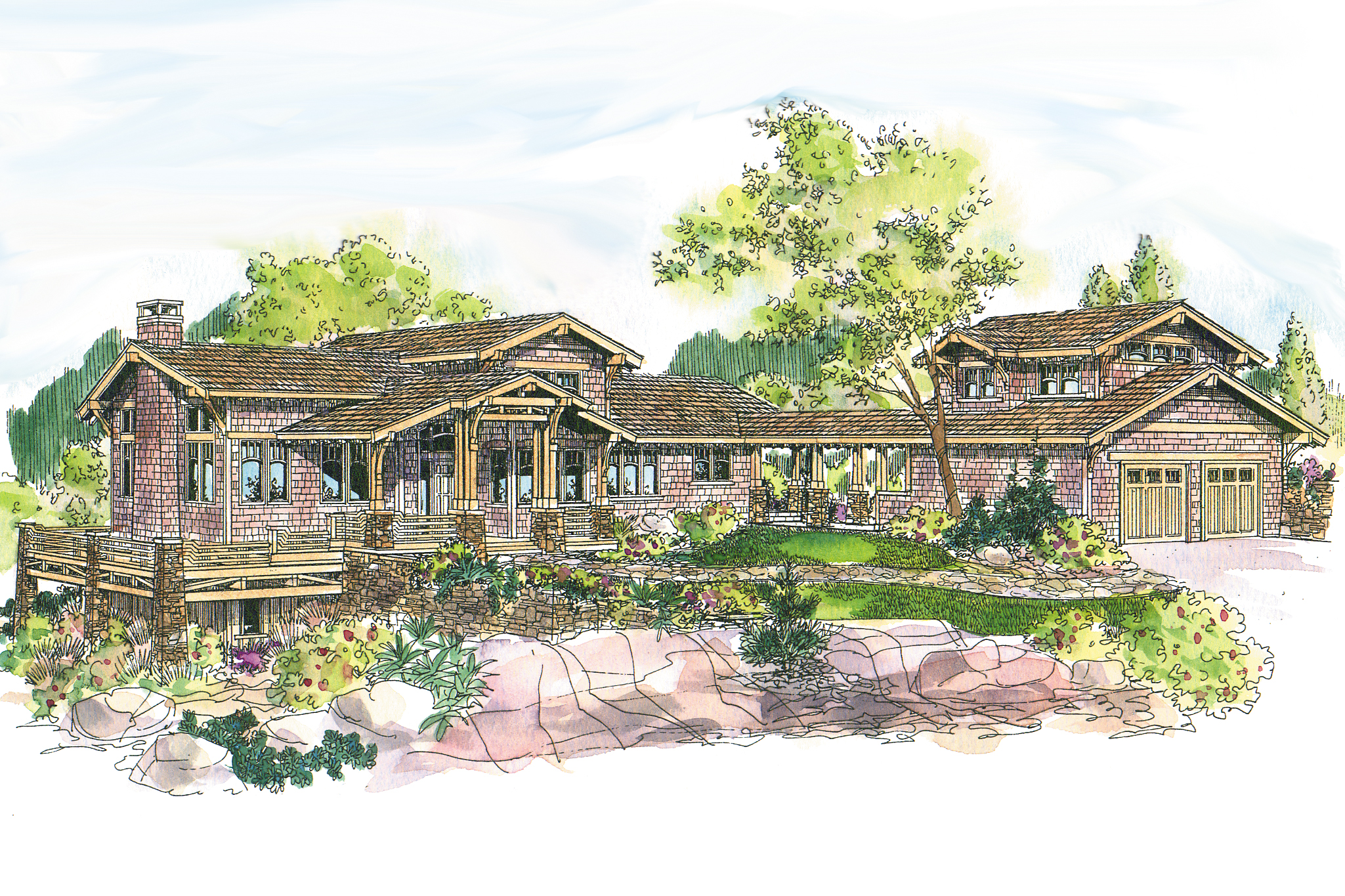 Craftsman House Plan - Meriweather 30-502 - Front Elevation