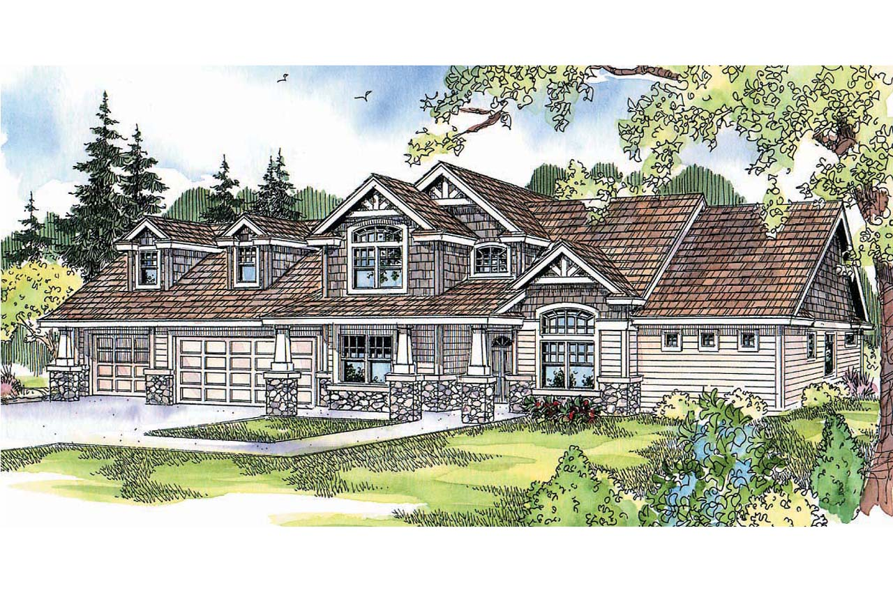 Craftsman House Plans Montego 30 612 Associated Designs