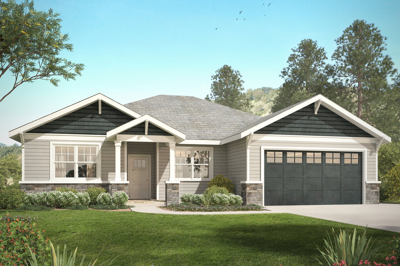 Craftsman House Plan, Home Plan, Northampton 31-052