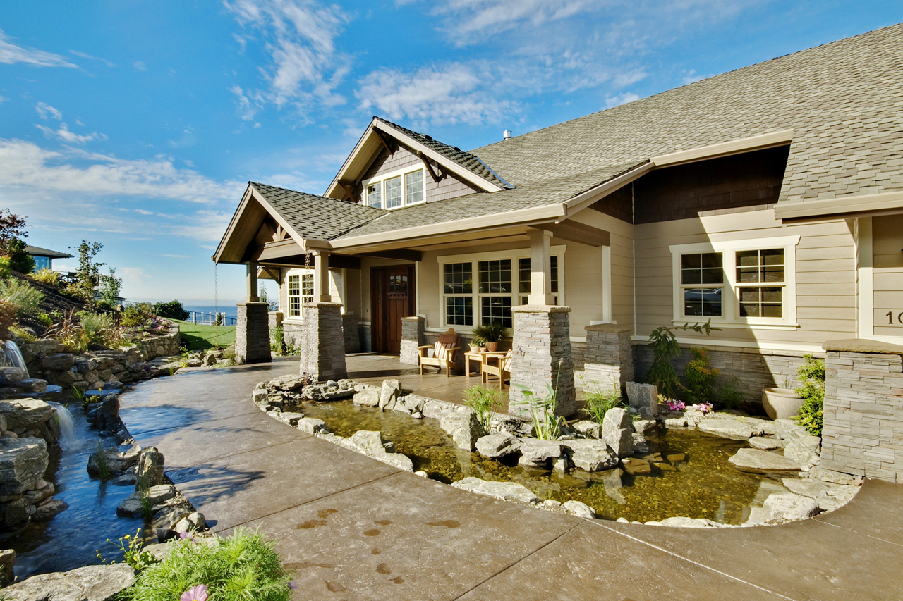 Craftsman House Plan  Pacifica 30 683 Front Elevation Estate Plans Associated Designs