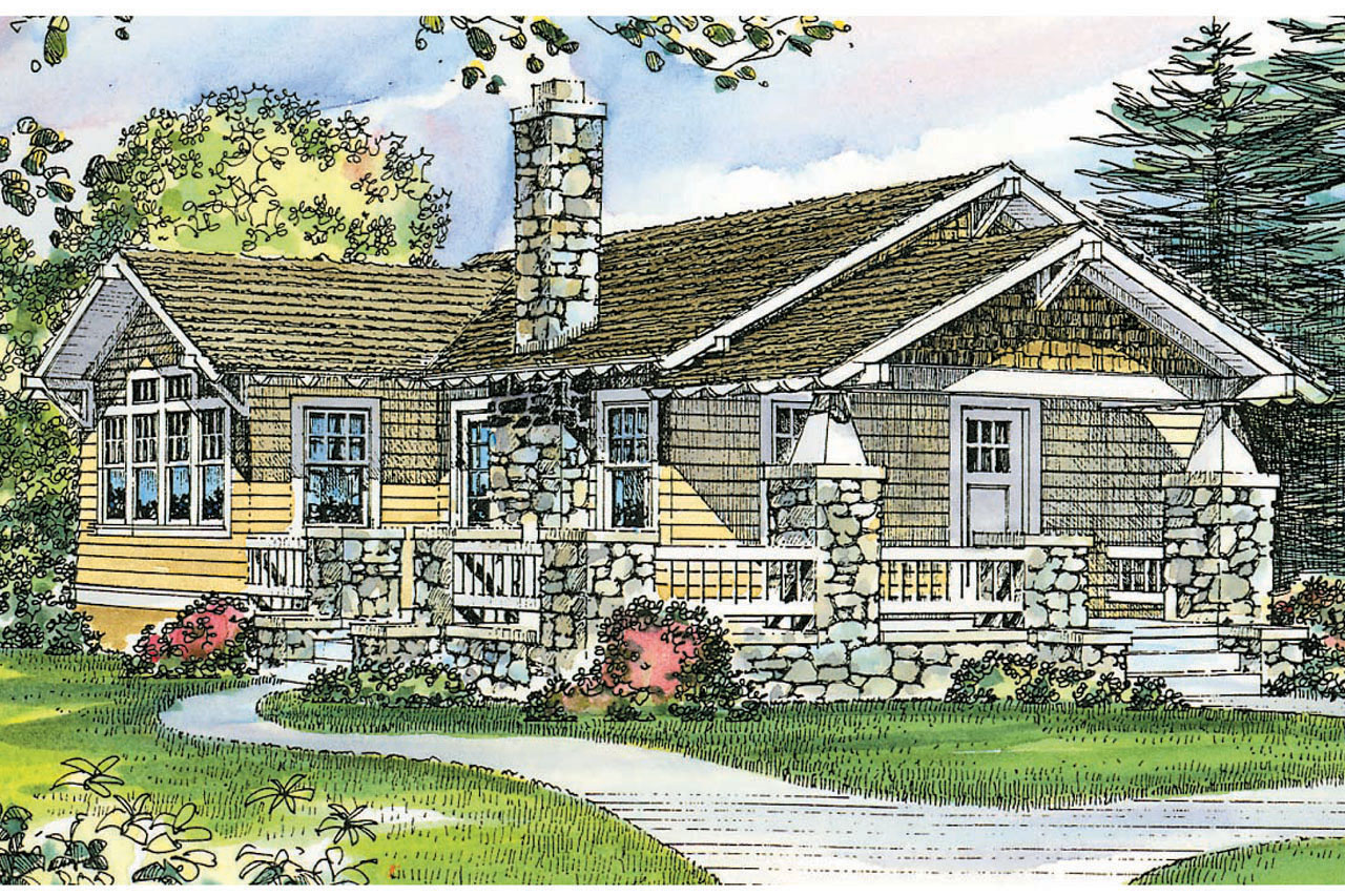 raftsman House Plans - Pinewald 41-014 - ssociated Designs - ^