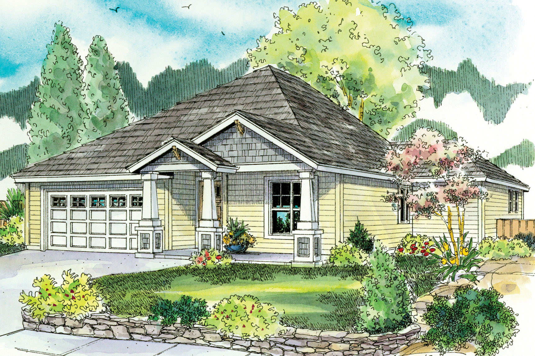 Craftsman house plans ravenden 30 712 associated designs for Small craftsman home plans