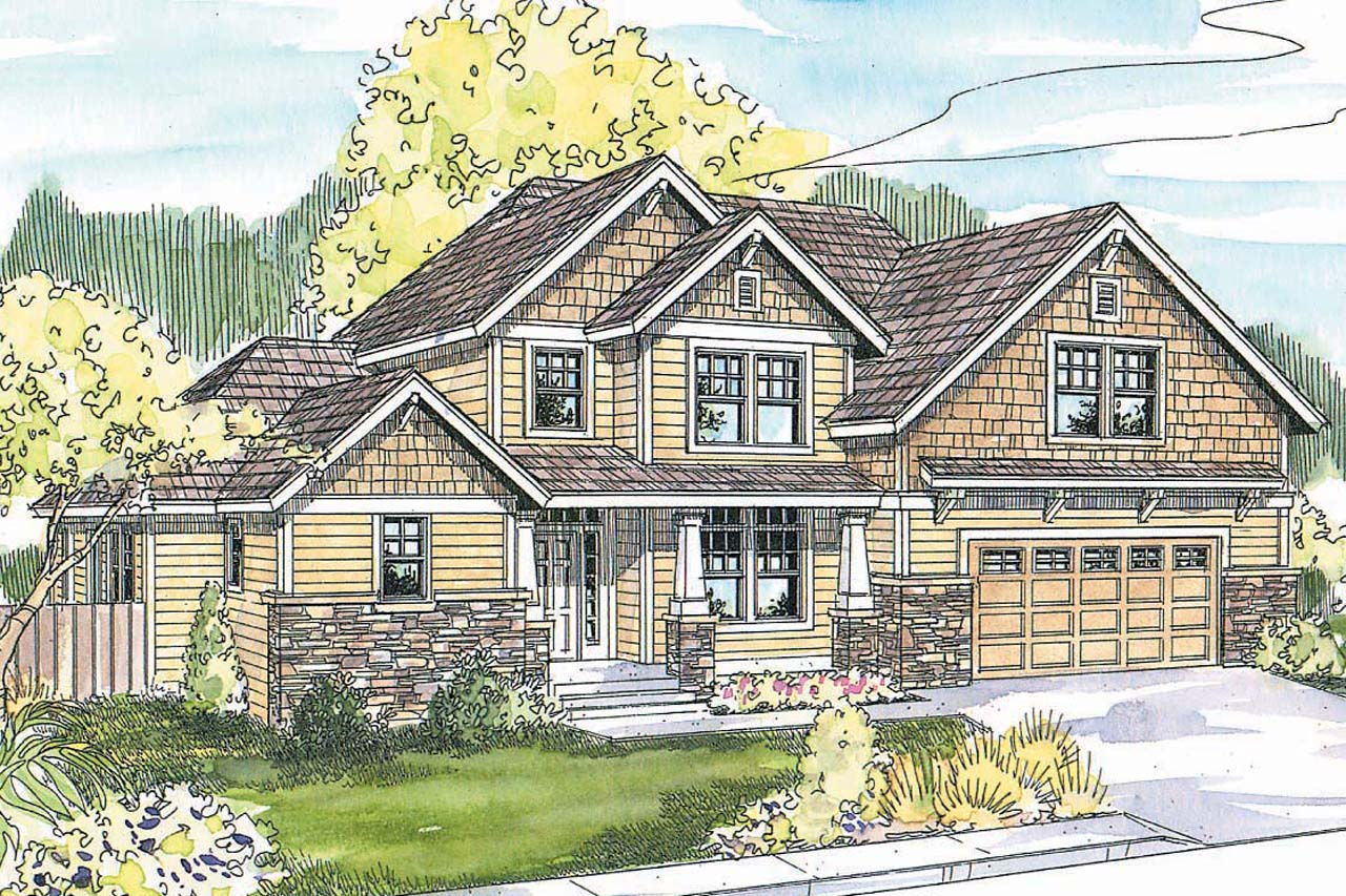 Craftsman house plans scarborough 30 530 associated for Best selling craftsman house plans