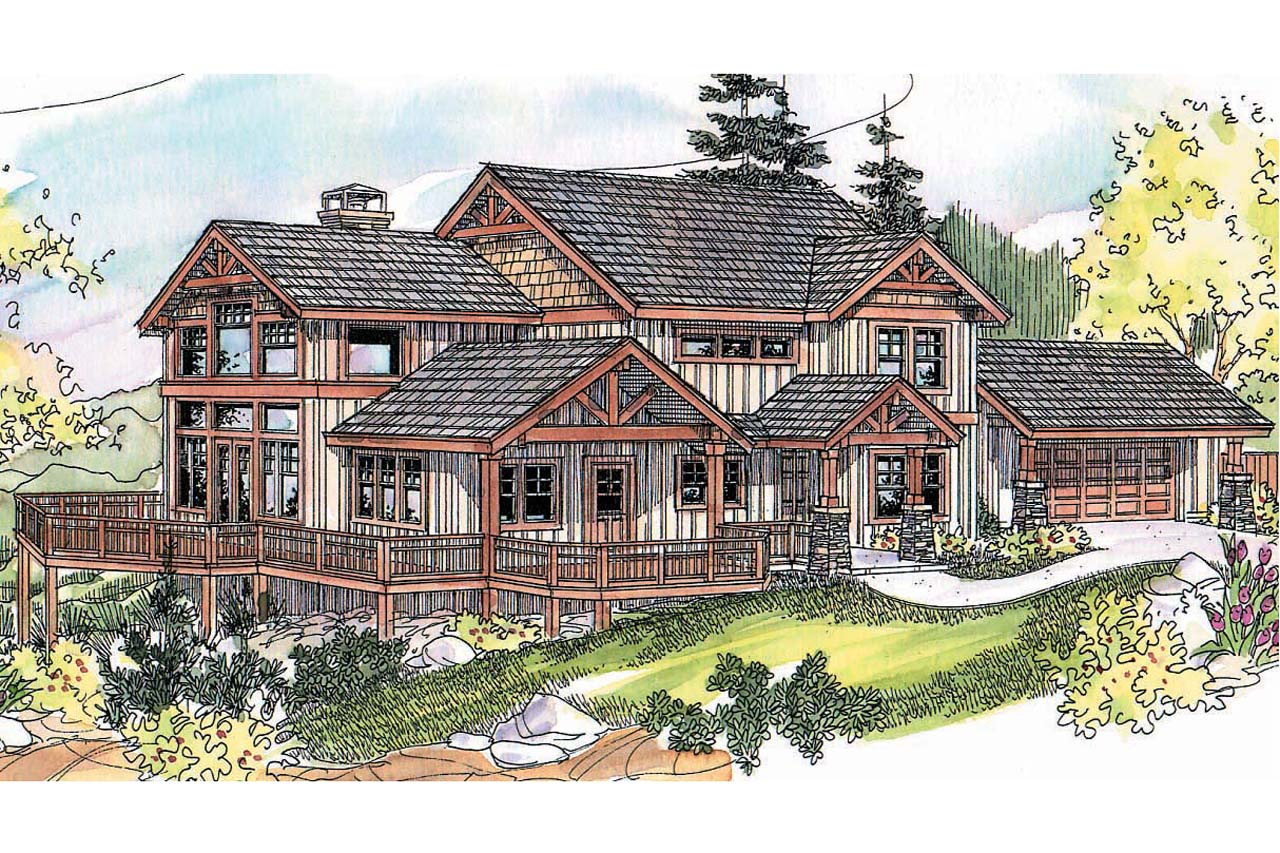 Craftsman House Plan - Stratford 30-615 - Front Elevation