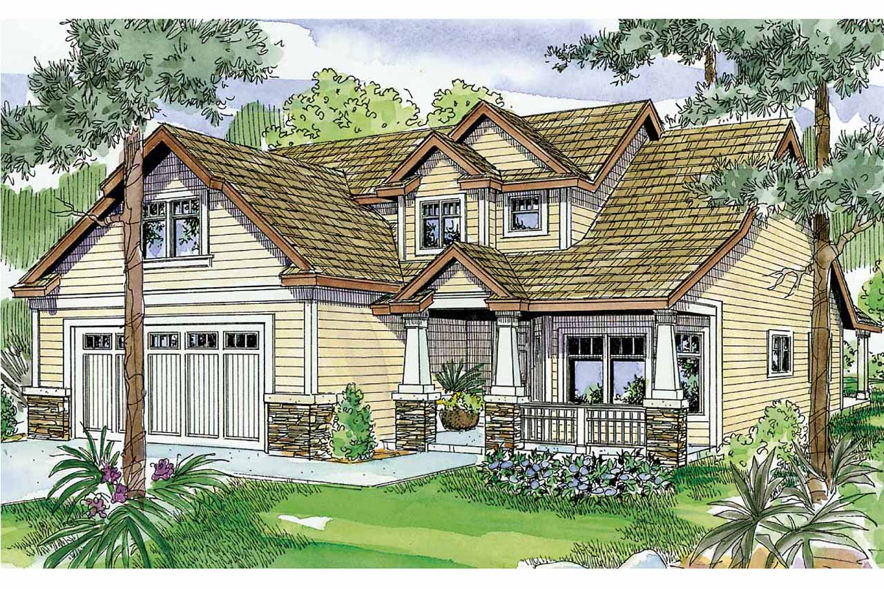 Craftsman house plans sturnbridge 30 663 associated for Best selling craftsman house plans