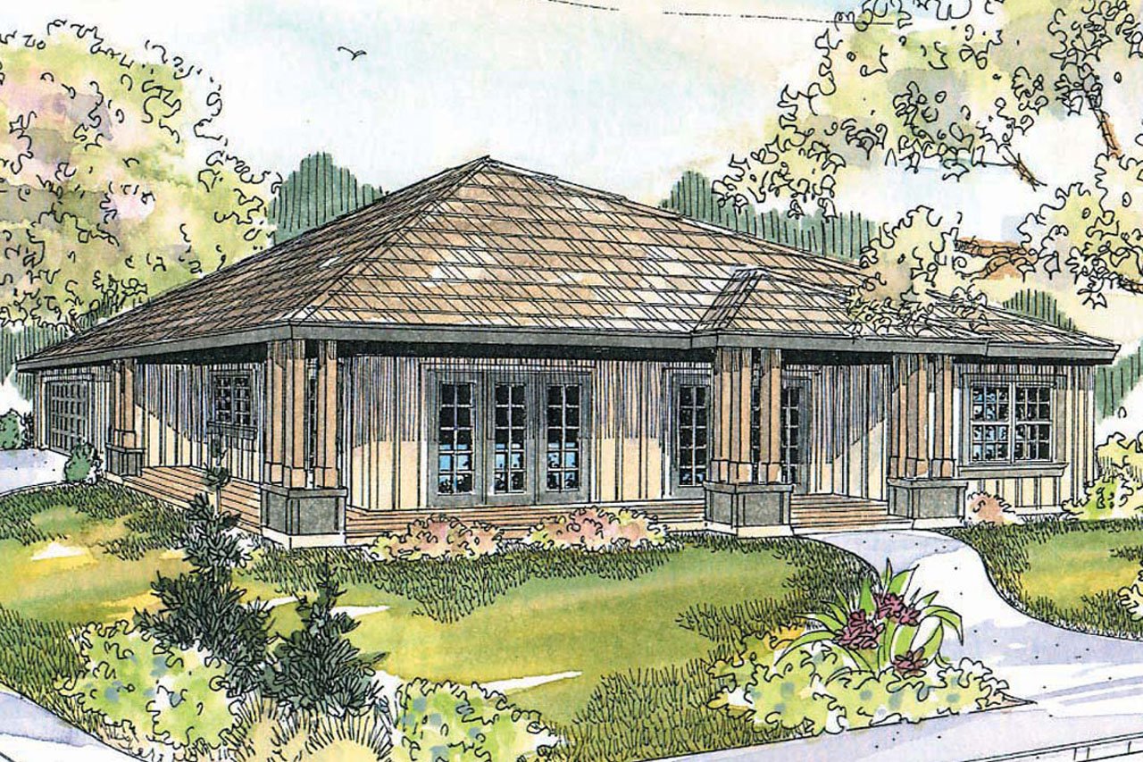 raftsman House Plans - ealwood 30-440 - ssociated Designs - ^