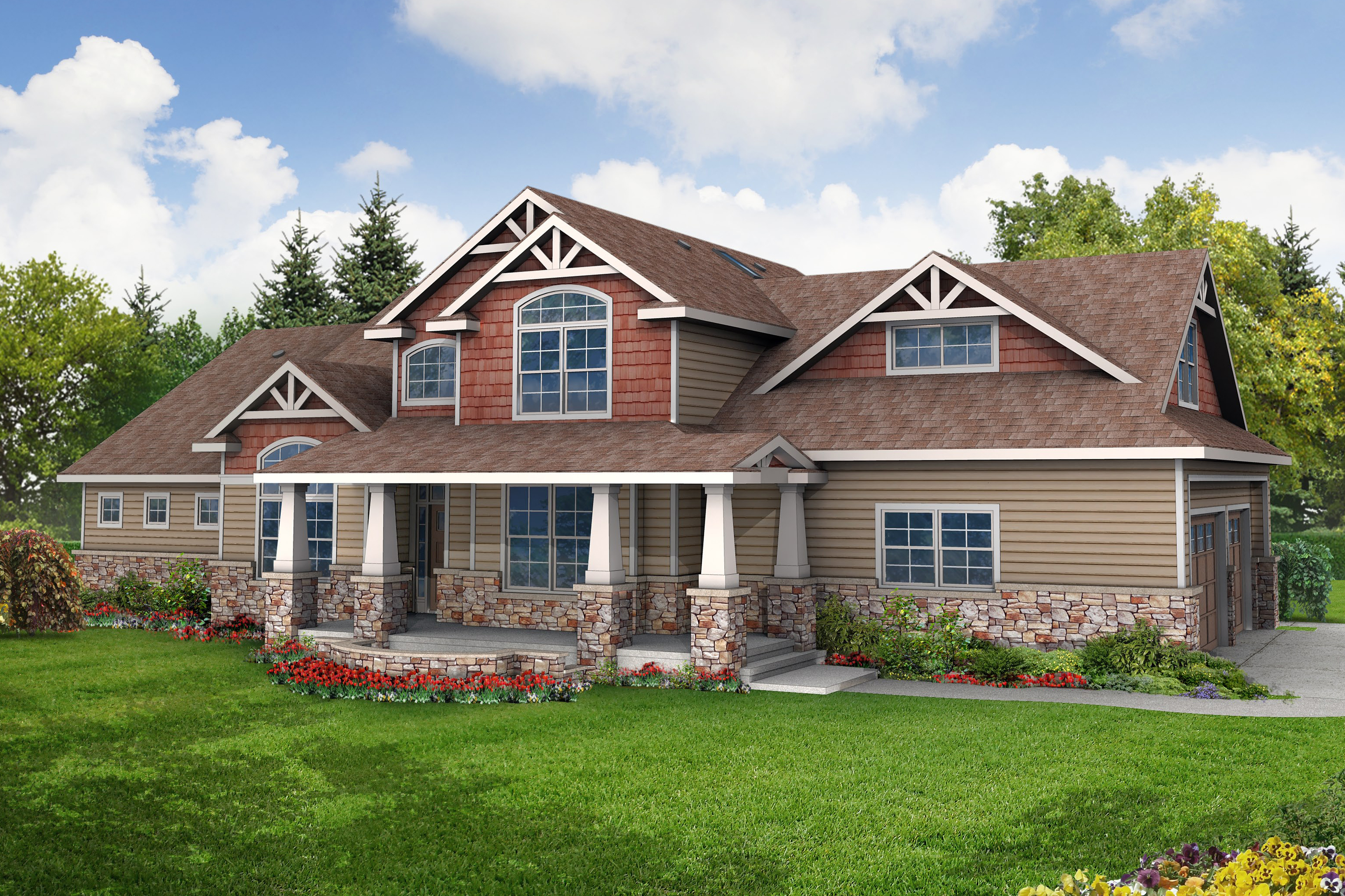 The Gallery For Craftsman Style Two Story House Plans