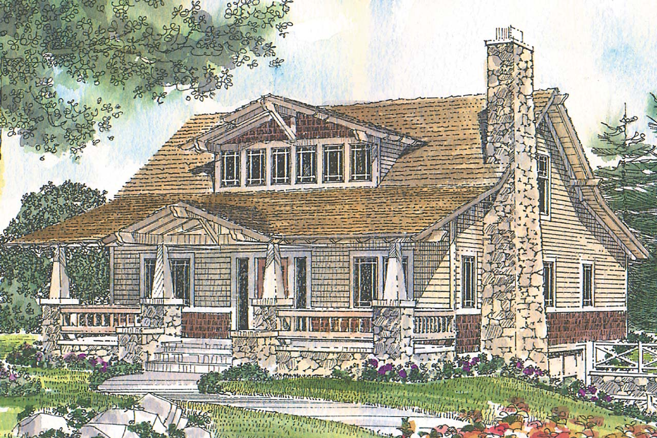 Craftsman house plans tuckahoe 41 013 associated designs for Craftsman cottage home plans
