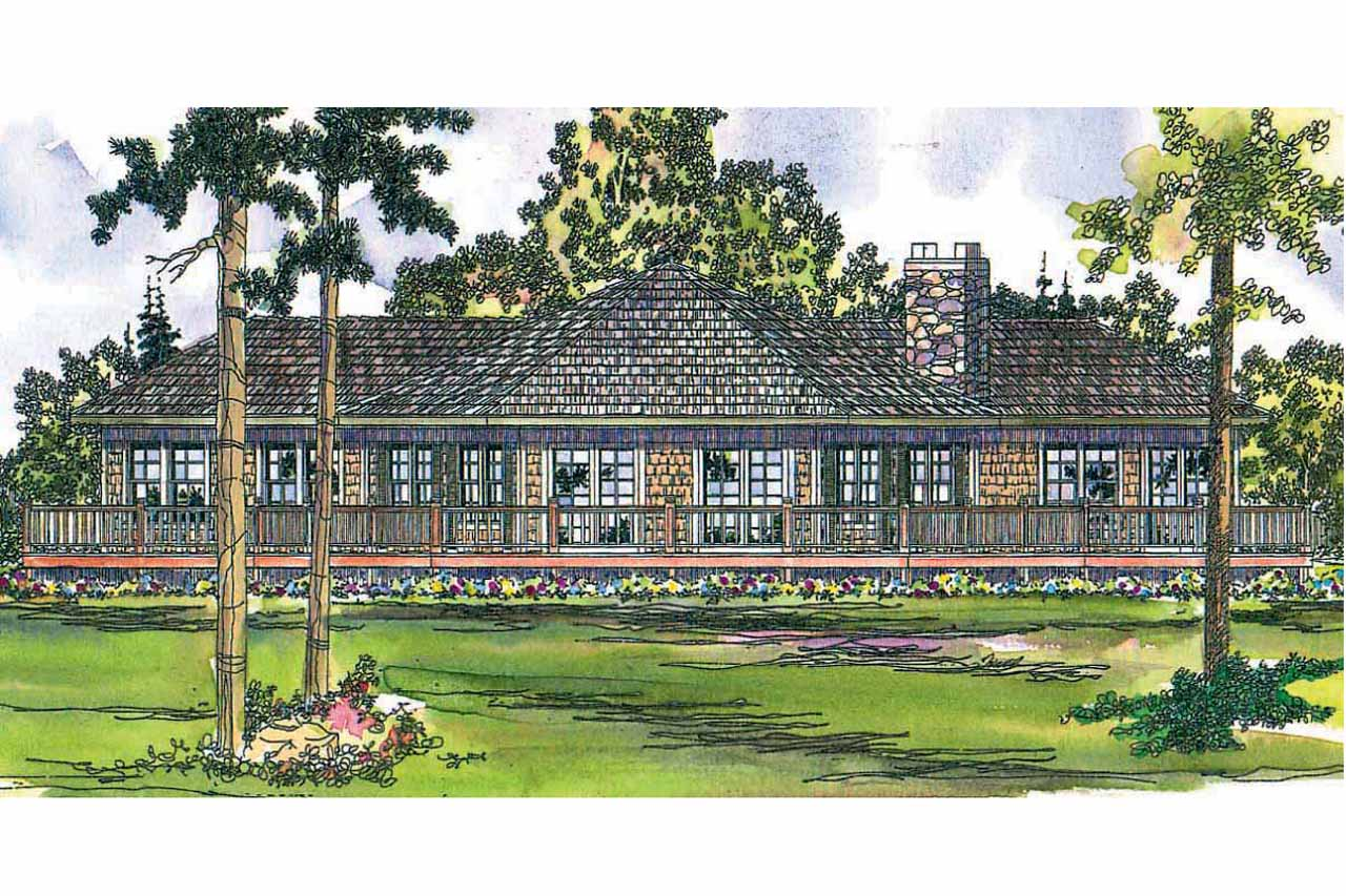 Craftsman House Plan - Vista 10-154 - Rear Elevation