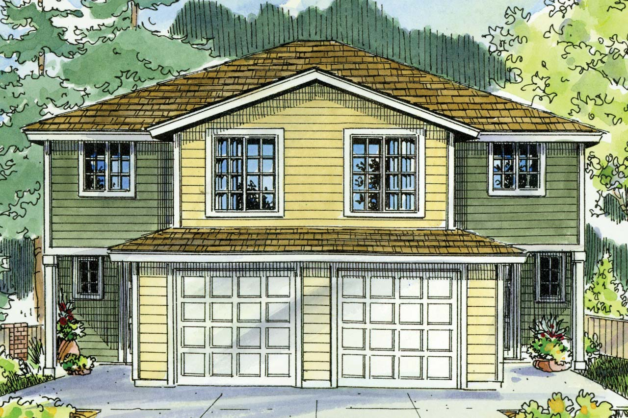 Feautred House Plan of the Week, Duplex Plan, Bergen 60-026