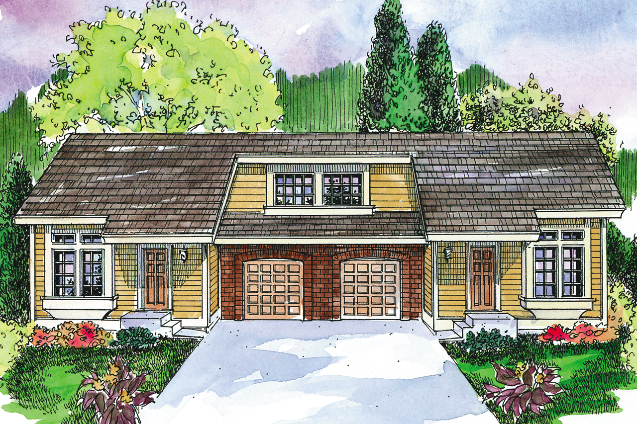 Duplex Plan, Multi Family House Plan, Mooresville 60-005